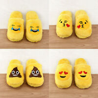 Emoji Slippers Women Men Cartoon Plush Home Cute Winter Indoor Slippers Fashion - unbranded - ebay.co.uk