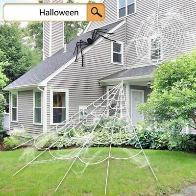 Diy Halloween Decorations Scary (Spider Web Halloween Party Haunted House Spooky Large Webs Diy Scary)