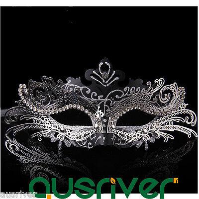 Metal Lace Half Face Party Mask Costume Ball Cosplay Halloween Venetian Princess (Venetian Princess Halloween)