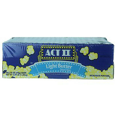 ACT II POPCORN LIGHT BUTTER 2.75 oz Each ( 18 in a Pack ) Act Ii Light Butter Popcorn