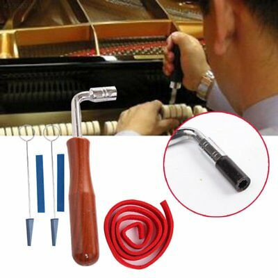 Professional Piano Tuning Kit Tuner Tools Set Piano Tuning Tool Wooden Handle Fixed Tuning Wrench With Bag Good Heat Preservation Wrench
