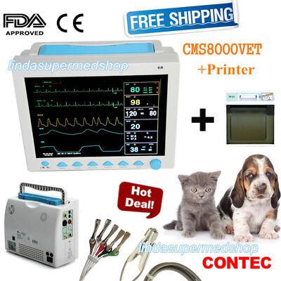 Vet Veterinary Icu Vital Signs Patient Monitor 6 Parameters With Printer Contec