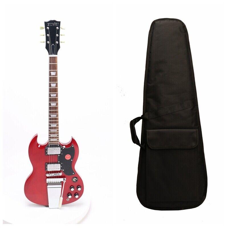 SG Standard Electric Guitar H-H Pickups Mahogany Body Maestro Vibrola Chrome