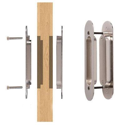 1 pair recessed sliding door handle flush