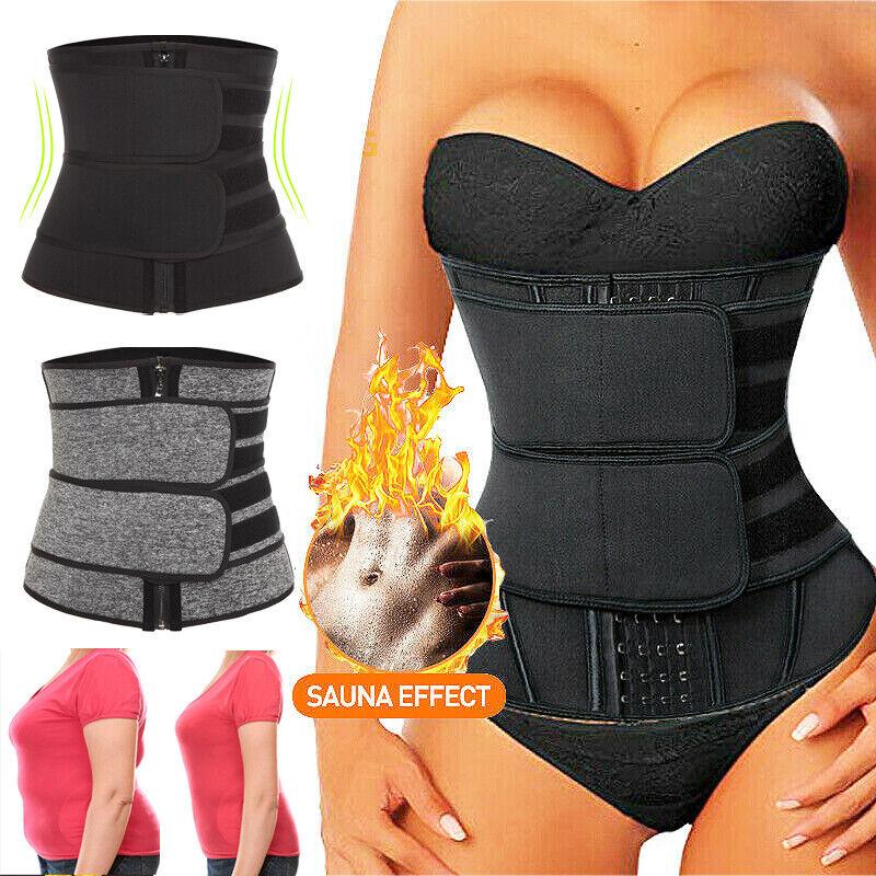 Women's Neoprene Waist Trainer Sauna Workout Belt Double Con