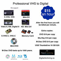 VHS to DVD Professional quality - Regina