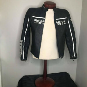 Authentic DUCATI Leather Women Motorcycle Jacket Like New Size M