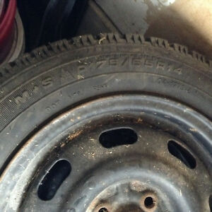 Goodyear winter tires and rims Kitchener / Waterloo Kitchener Area image 6