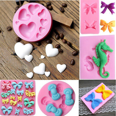 Butterfly Bow-Knot Sea Horse Love Chocolate Fondant Mold Cake Decorating Mould