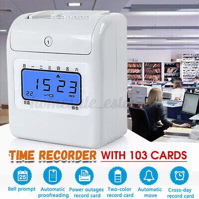 Employee Time Attendance Digital Clock Electronic Recorder Bundy 103