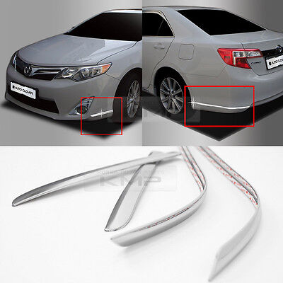 Bumper Radiator Grille Chrome Garnish Molding Cover 10P for TOYOTA 2015-16 Camry