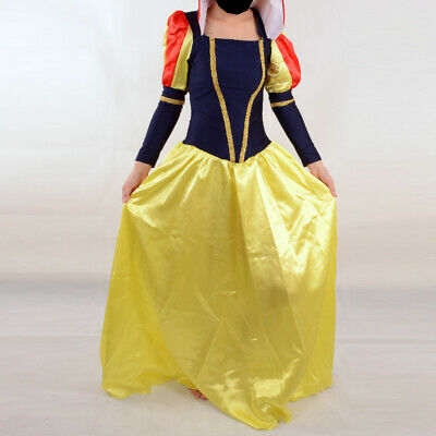 Snow White Cosplay Halloween Costume for Women Adult Party Fancy Dress HOT SALE