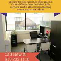 Renovated, Furnished, Window Single Offices starting at $1000/mo