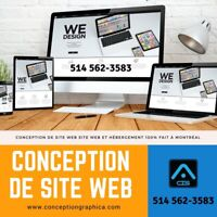 CRÉATION SITE WEB, WEBSITE DESIGN, CONCEPTION DE SITE WEB