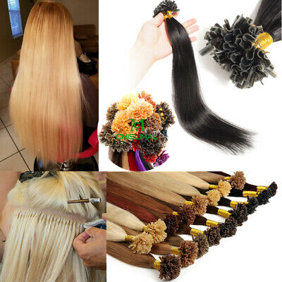 Fusion Pre bonded U/Nail Keratin Tip blonde 100% Remy Human Hair Extensions