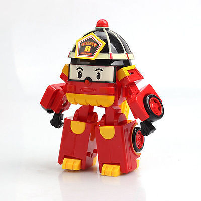 Roy Fire Truck ROBOCAR POLI Deformation Cars Toy Police Robot Christmas Gift