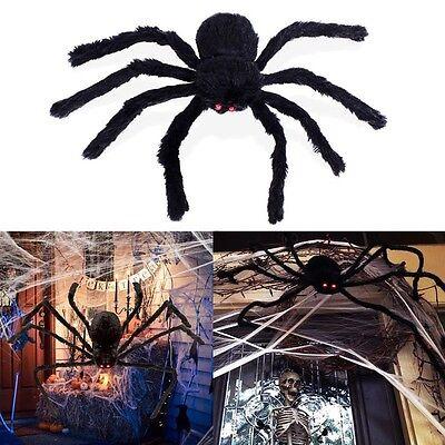 Black Spider Halloween Decoration Haunted House Prop Indoor Outdoor 300mm
