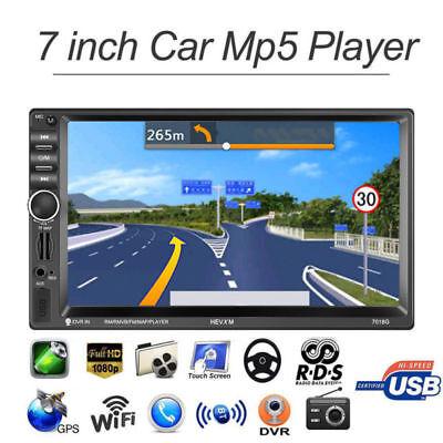 """7"""" 2DIN Autoradio mit Bluetooth GPS MP5 Player Car Audio Stereo + Rückfahrkamera"""