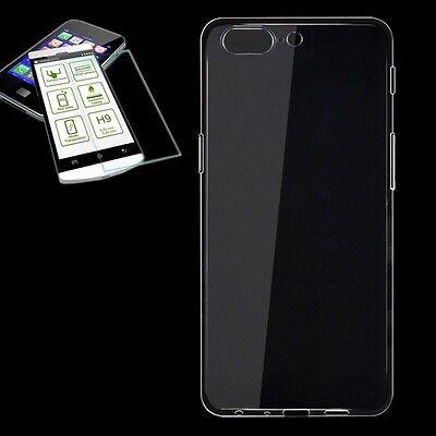 Silikoncase Transparent Tasche + 0,3 H9 Panzerglas für ONEPlus 5 Hülle Neu Cover