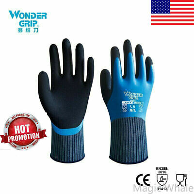 One Pair Wonder Grip Safety Fully Immersed Waterproof Cold-proof Work Gloves