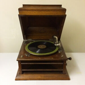 Antique 1915 Columbia Grafonola Phonograph Record Player