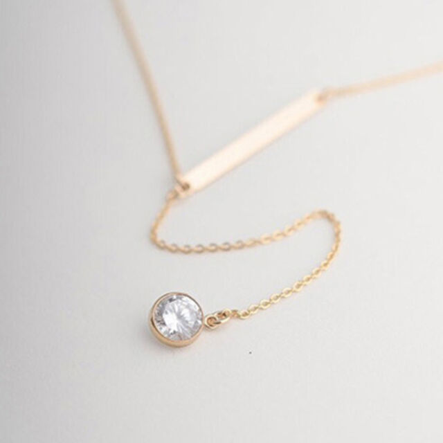 Long Necklace Women Fashion Pendant Chain Crystal Choker Chunky Bib Statement