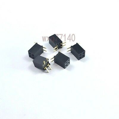 20pcs 0.12.54mm Pitch 2x2 Pin 4 Pin Smtsmd Female Double Row Header Strip Diy
