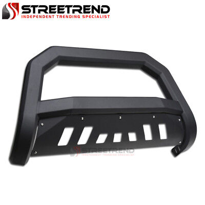 Cruiser Bull Bar - For 07-14 Toyota FJ Cruiser Matte Blk AVT Edge Bull Bar Brush Push Bumper Guard