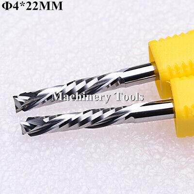 2pcs 4mm22mm 2 Flutes Updown Compression Mill Cutter Wood Mdf Cnc Router Bits
