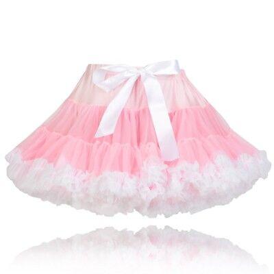 Mädchen Volle Flauschig Qualität Nylon Pink Trimm Weiß Party Pettirock Tutu Rock Voller Rock Nylon Rock
