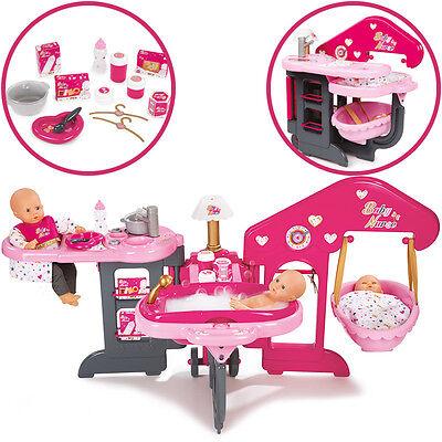 Smoby Großes Pflegecenter f. Puppen Puppenpflegecenter Puppenbett Badewanne NEU