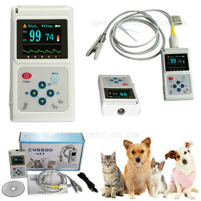 Oled Veterinary Pulse Oximeter Ear Clip Spo2 Probe Pet Pulse Oxygen Saturation