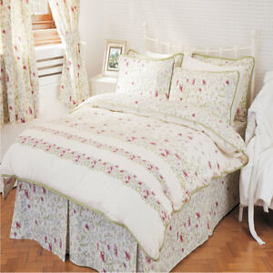 Country Cottage Printed Duvet Cover Bedspread Fitted Valance Curtains Ebay