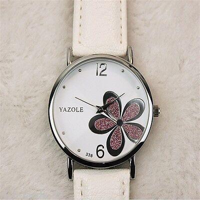 großartige Quarzuhr Design Ziffernblatt Blume für Damen Angebot