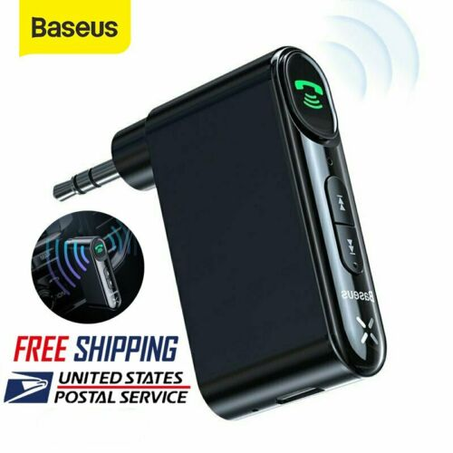 Baseus 3.5mm AUX Jack Wireless Bluetooth 5.0 Receiver Car Ki
