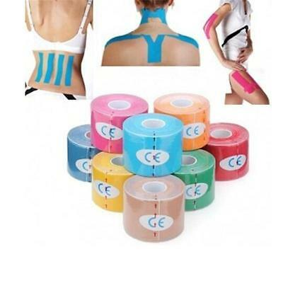Muscles Sports Care Elastic Physio Therapeutic Tape 1 Roll 5M X 5Cm S  K 9Q