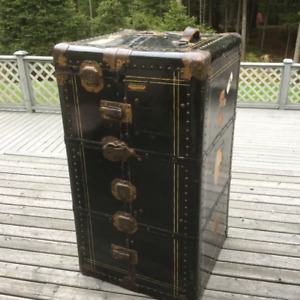 Antique Steamer Trunk and Wardrobe with Keys- Multnomah