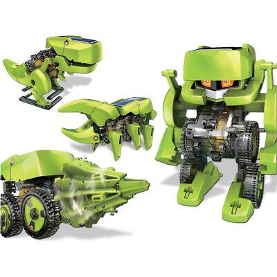 DIY 4 IN 1 Educational Learning Electronic Machine Dinosaur Solar Robot Kit Toy