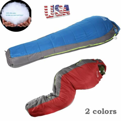 Lightweight Sleeping Bag Camping Backpacking Mummy 4 Seasons Weather Compact HT