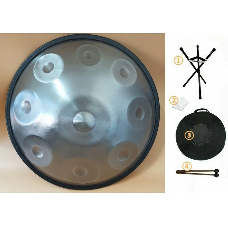 9 Note G Minor Handpan Drum Stainless Steel Percussion Hand Pot 18inch 6KG w/BAG