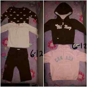 Girls Size 6-9 Months, 9 Months and 6-12 Months