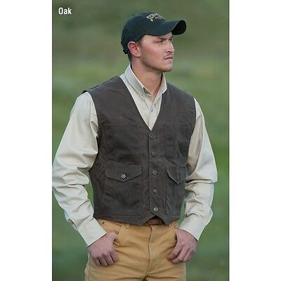 Men's Schaefer Outfitters Ranch Wear Oak Mesquite Range Wax Western Vest Size LG