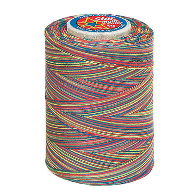 #813~STAR COTTON MACHINE THREAD~VARIEGATED~QUILT & SEW~OVER THE - Rainbow Thread