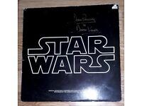 STAR WARS Original Soundtrack LP Signed by DAVE PROWSE