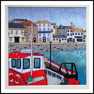 Falmouth-harbour-cornwall-cross-stitch-kit-emma-louise-art-stitch