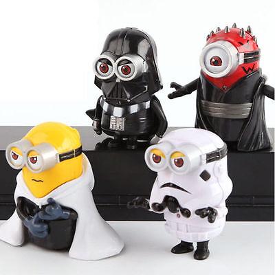 Spiel Figuren 4er Set Minions Star Wars mit Licht