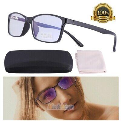 Blue Light Blocking Computer Glasses UV400 Anti Eyestrain Radiation Black - Lighted Glasses