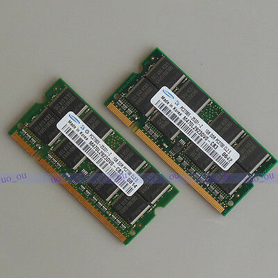 Samsung 2GB KIT 2X1GB DDR 333mhz PC2700 SODIMM laptop RAM Notebook Speicher NEU