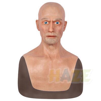 Charles Realistic Silicone Old Men Gesichtsmaske Kopfbedeckung Crossdresser