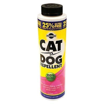 PET CAT & DOG REPELLENT POWDER ANIMAL NON TOXIC NATURAL FOR GARDEN PATIO 240g